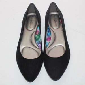 Kelly and Katie Faux Suede Cushioned Comfort Flats